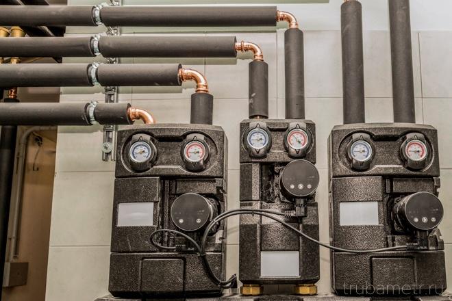 Теплоизоляция медных труб водопровода и насос