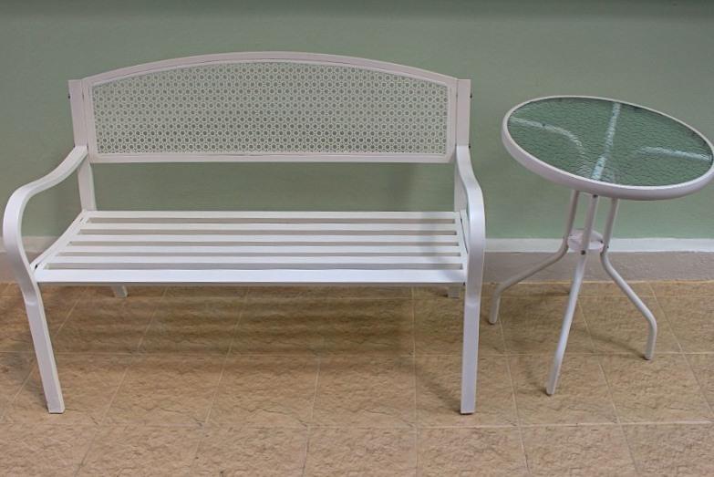 Скамейка и столик из профильной трубы